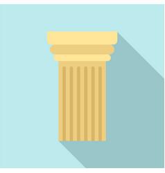 Greek column icon flat style vector