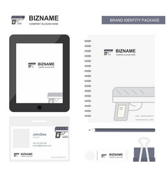 gun business logo tab app diary pvc employee card vector image