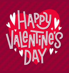 happy valentines day card romantic quote for 14 vector image