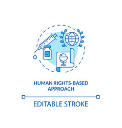 Human rights based approach concept icon vector
