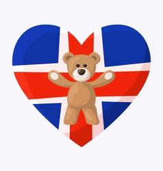 Iceland Teddy Bears vector