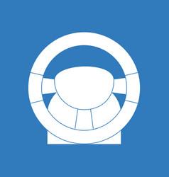 Icon steering wheel vector