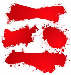 ink splat blood vector image
