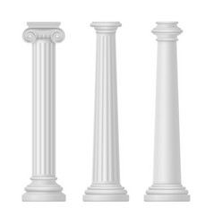 ionic and tuscan greek and egypt rome column vector image