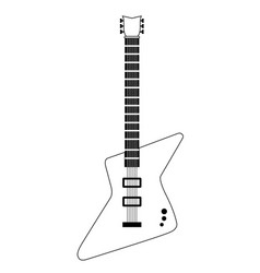 Isolated electric guitar icon musical instrument vector