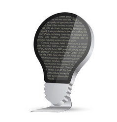 light bulb in form a monitor vector image