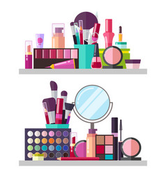 Make up big collection posters vector