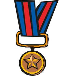 Medal icon logo template vector