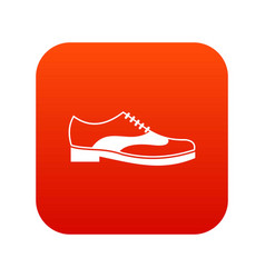 men shoe with lace icon digital red vector image