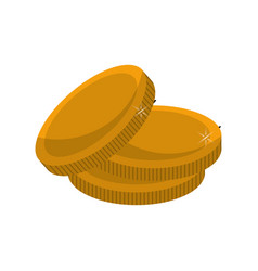 Metal gold coins money vector