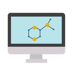 Molecular structure icon vector
