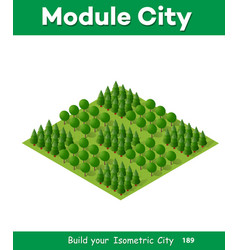 Natural landscape isometric vector