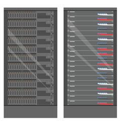 network workstation server room concept server vector image