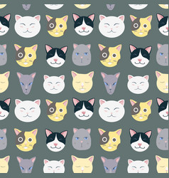 Nice cats pattern vector