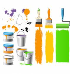 paint bucket vector image