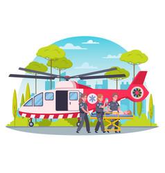 Paramedic cartoon concept vector