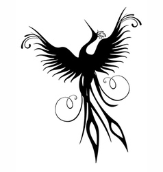 Phoenix bird figure isolated vector