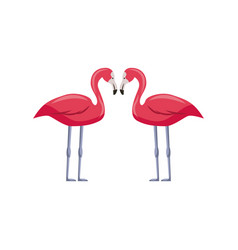 pink flamingos icon vector image