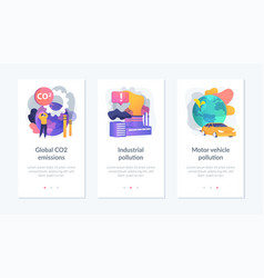 Polluting energy app interface template vector