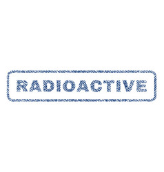 Radioactive textile stamp vector