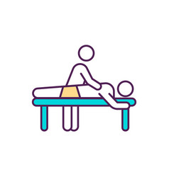 rehabilitation massage therapy rgb color icon vector image
