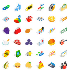 resell icons set isometric style vector image