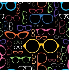 Retro Color Glasses Silhouettes vector