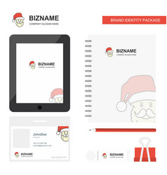 santa clause business logo tab app diary pvc vector image