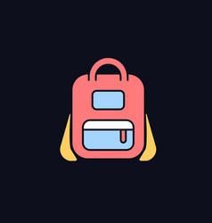 Schoolbag rgb color icon for dark theme vector