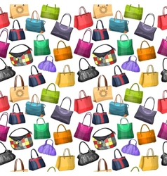 Seamless pattern with womens bags vector image