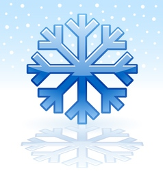 Shiny snowflake icon vector