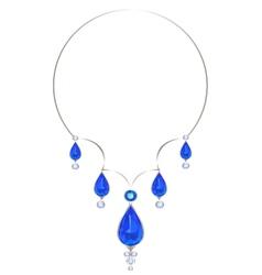 Silver necklace vector