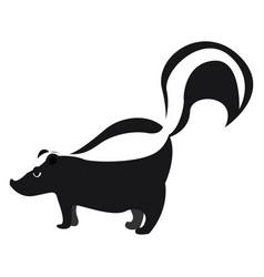 Skunk on white background vector
