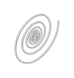 Spiral icon in isometric 3d style vector