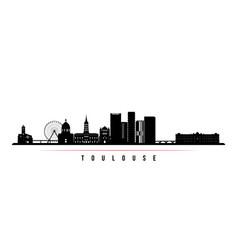 Toulouse skyline horizontal banner vector