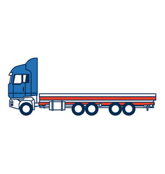 truck cabin trailer transport wheels motor vector image