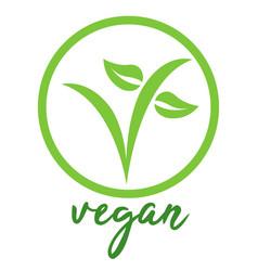 vegan symbol vector image