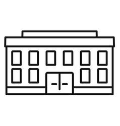 Village courthouse icon outline style vector