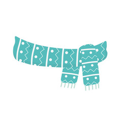 warm scarf clothes winter christmas vector image
