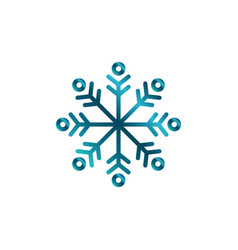 winter badge logo icon design vector image