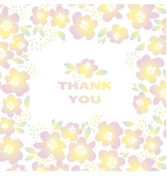 Yellow sunny color floral in retro 60s style vector