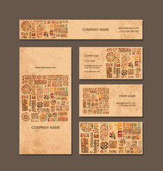 business cards design ethnic style vector image