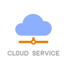 Cloud Service Computing Icon Logo Flat design vector image