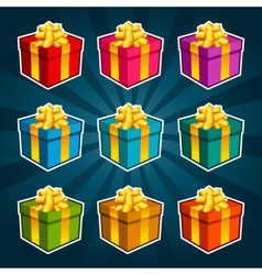 Colorful Gift Boxes vector image