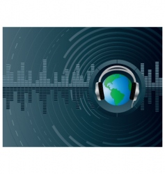 dj globe background vector image vector image