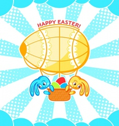 Easter airship vector