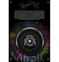 loud speaker and music notes vector image vector image