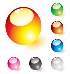 marble shine glow vector image vector image