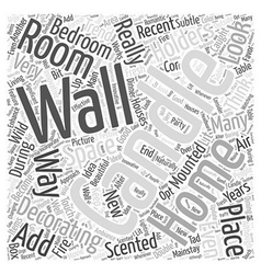 wall mounted candle holders Word Cloud Concept vector image vector image