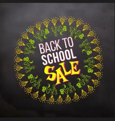 back to school sale in sketch frame vector image vector image